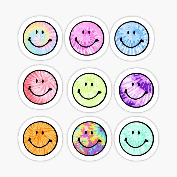 Tie Dye Smiley Face Sticker Pack Sticker