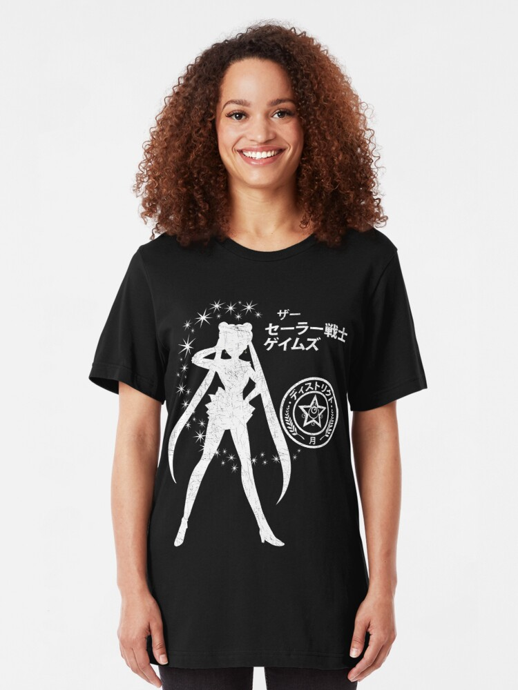 Alternate view of The Senshi Games: Moon ALT version Slim Fit T-Shirt