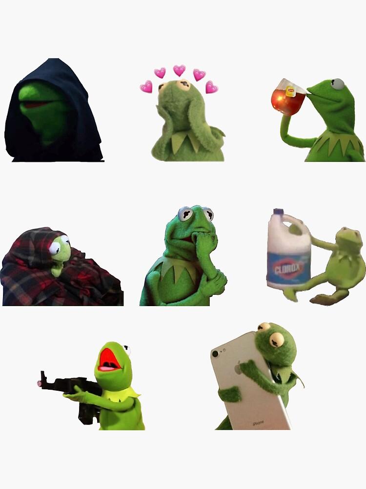 Kermit meme paquete de pegatinas de blue-liv
