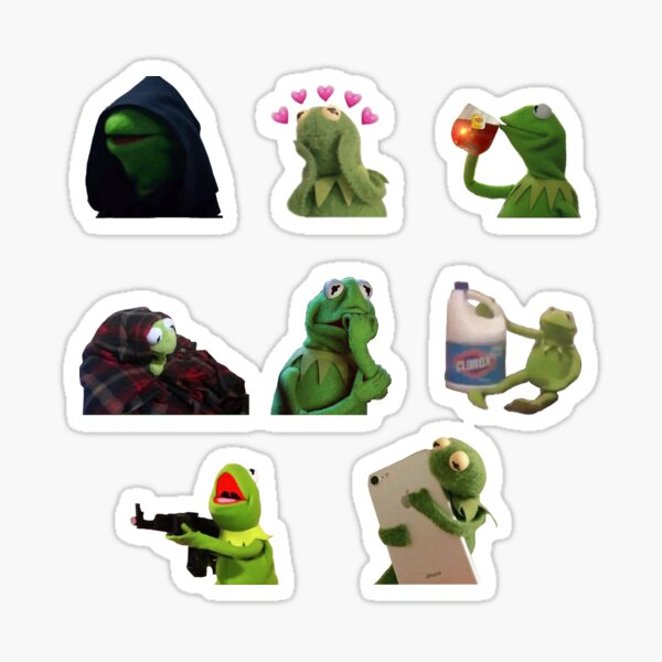Kermit meme sticker pack Sticker