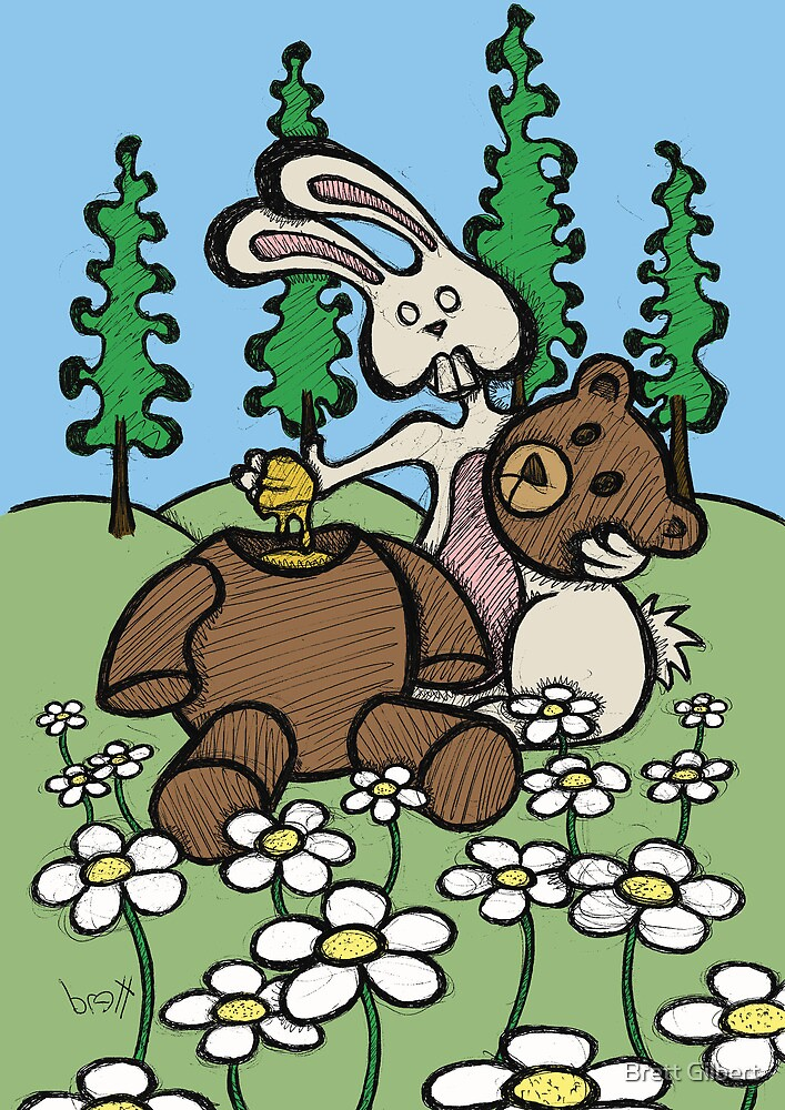 Teddy Bear and Bunny - Sweet Golden Blood by Brett Gilbert