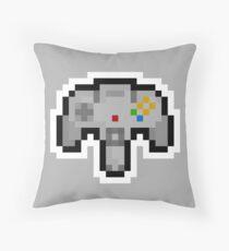 Pixel Nintendo 64 Controller Throw Pillow