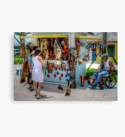 Pompey Market Place Canvas Print