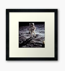 Buzz Aldrin on the Moon Framed Print