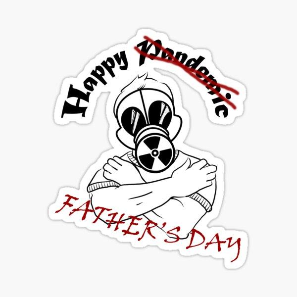 Gas Mask Guy Fathers Day Sticker