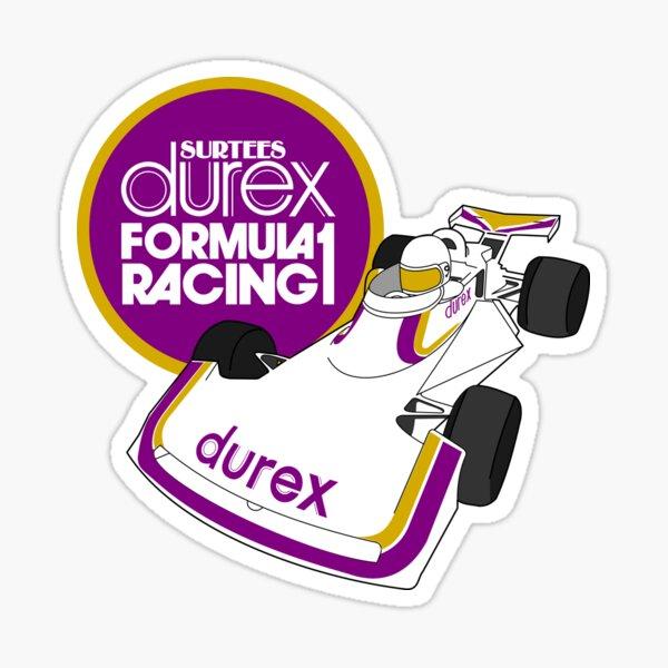 Durex Surtees Logo du sponsor de la Formule 1 et Logo de la voiture Sticker