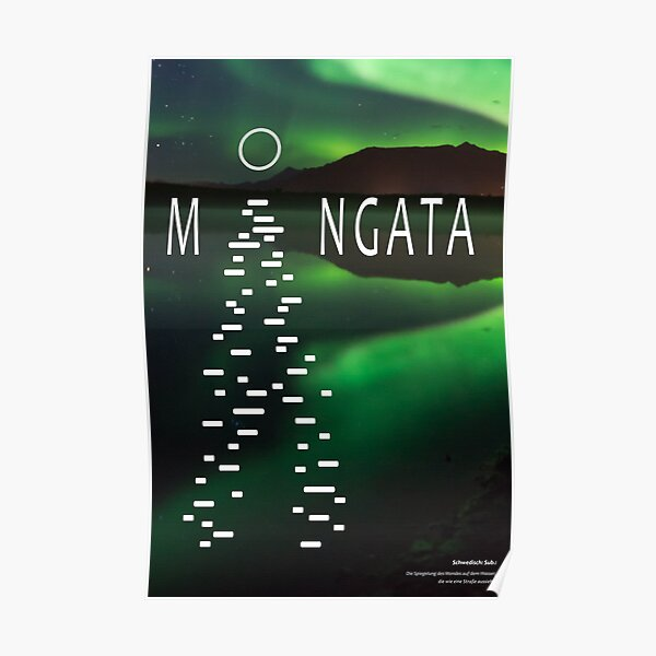 Untranslatable Swedish word: reflection of the moon in the water Poster