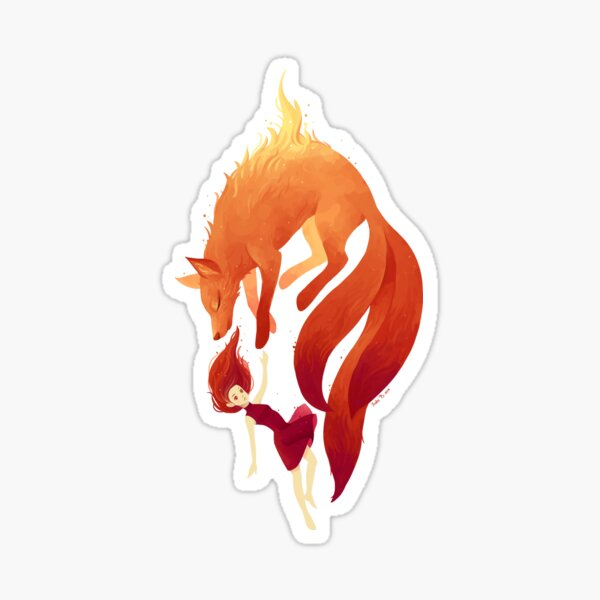 Fire Fox Sticker