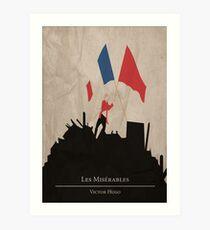 Lámina artística Les Miserable - Victor Hugo