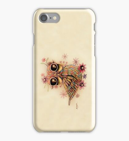 little flower owl iPhone and iPod Case iPhone Case/Skin