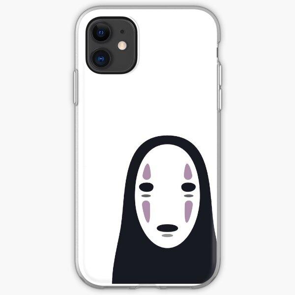 「Spirited Away」No Face Minimal Sticker iPhone Soft Case