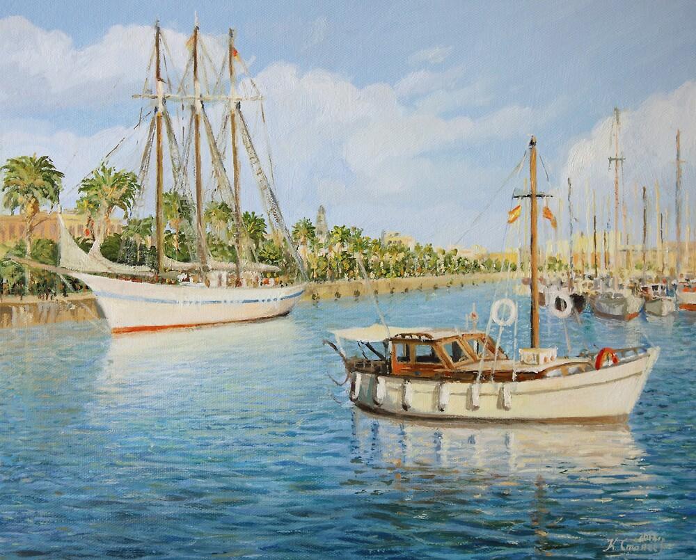 Port Vell in Barcelona by kirilart