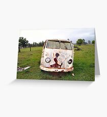 Abandoned Kombi at Farm Greeting Card
