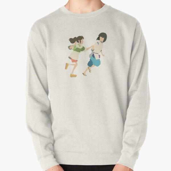 「Spirited Away」Chihiro and Haku Minimal Sticker Pullover Sweatshirt