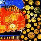 "Orange Jelly Jelly - Monotype/Linocut by Belinda ""BillyLee"" NYE (Printmaker)"