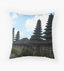 Taman Ayun Temple Throw Pillow
