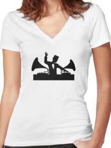 Let's Party Like It's... 1923! ...Sweeet! Women's Fitted V-Neck T-Shirt