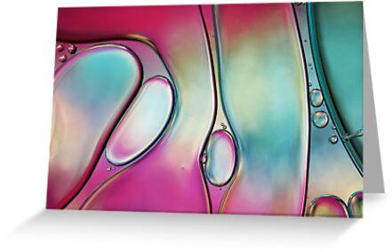 Passion Pink  Rainbow Swirls by Sharon Johnstone