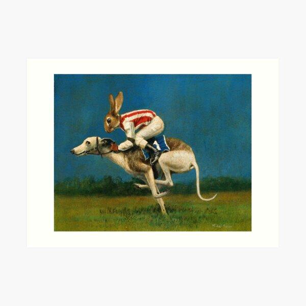 Whippet Racer Art Print