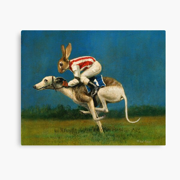 Whippet Racer Canvas Print