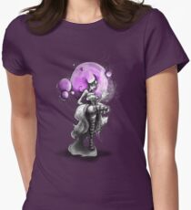 Rainbow Punk: Psychedelic Purple Womens Fitted T-Shirt