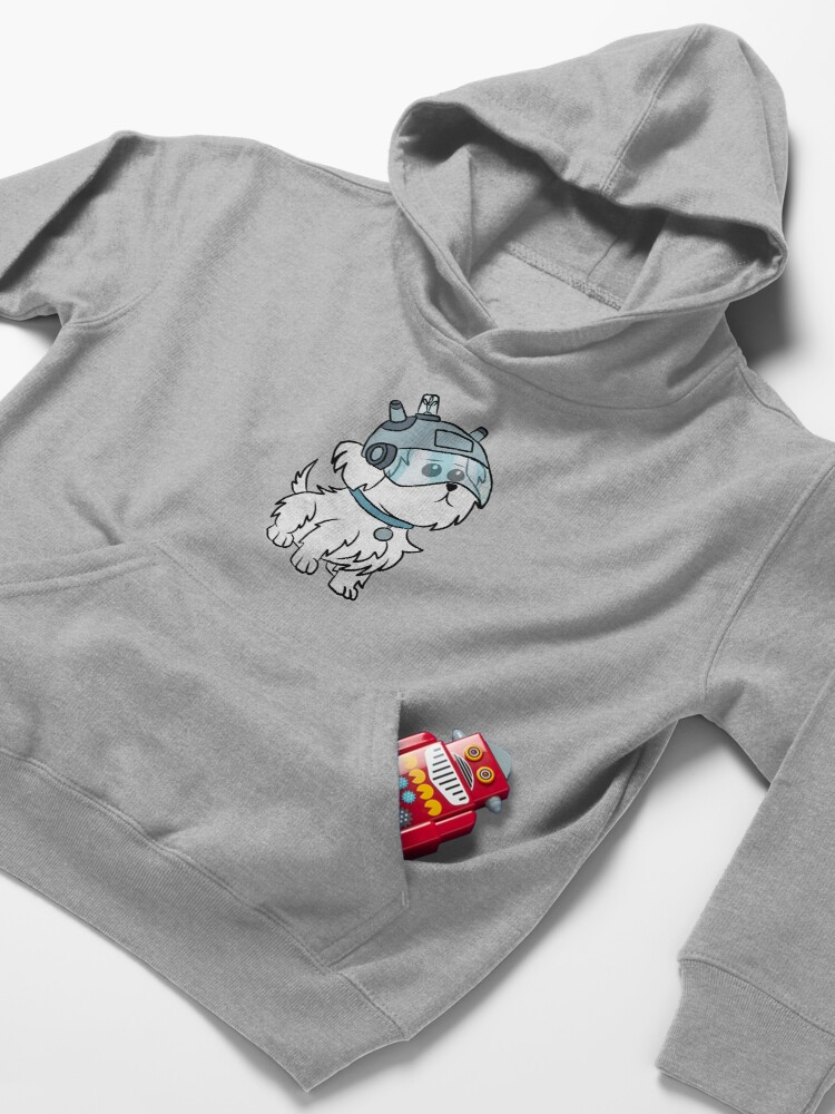 Alternate view of Snuffles | Rick and Morty Kids Pullover Hoodie