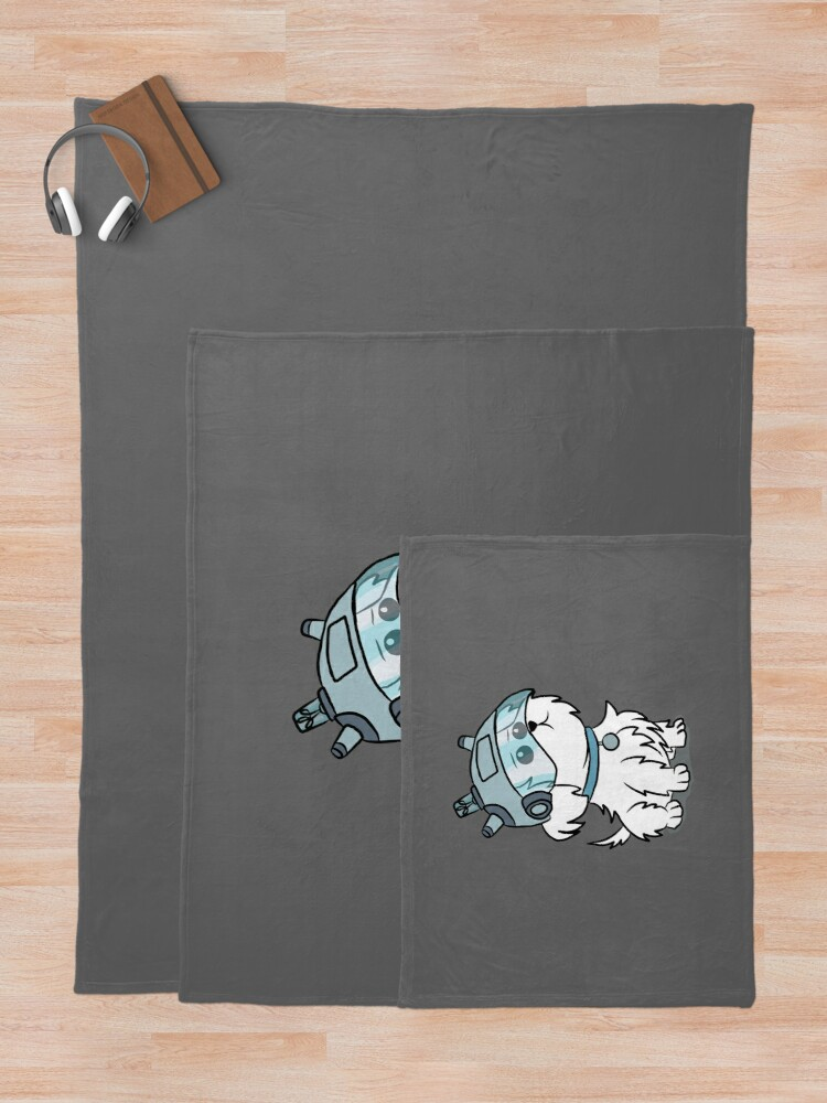 Alternate view of Snuffles | Rick and Morty Throw Blanket
