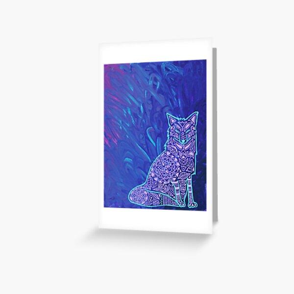 Fox Mandala Greeting Card