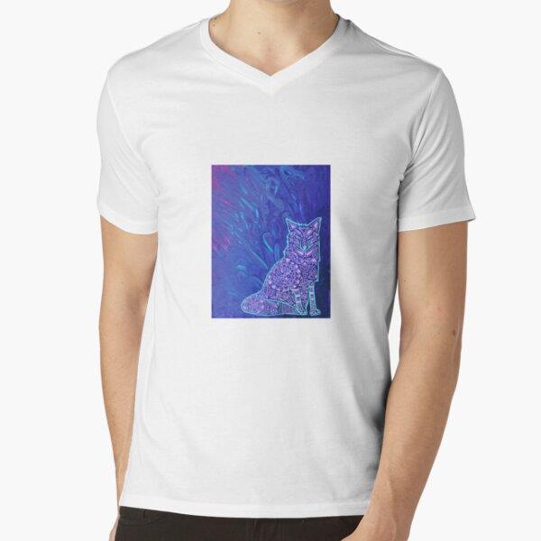 Fox Mandala V-Neck T-Shirt