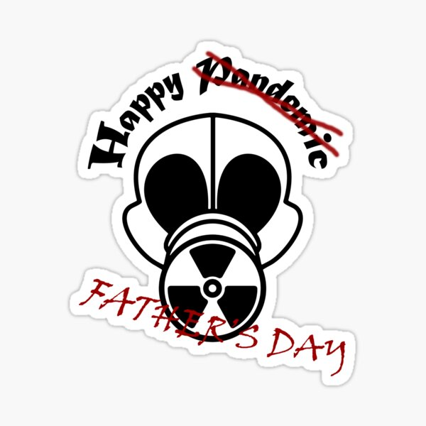 Gas Mask Fathers Day Sticker