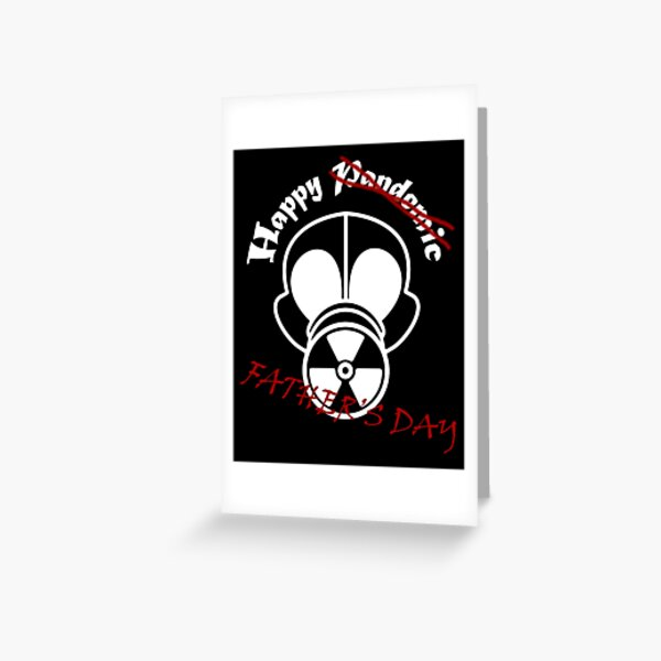 Gas Mask Fathers Day White Greeting Card