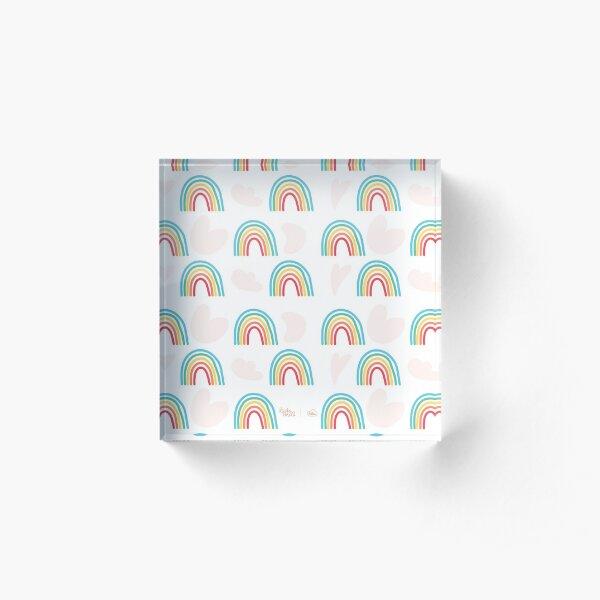 Rainbow Acrylic Block