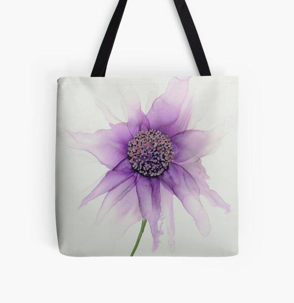 Ink flower Allover-Print Tote Bag