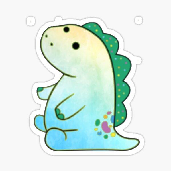 Beachy Watercolor Pickle the dinosaur  Sticker