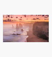 Misty sunset at the twelve apostles Photographic Print