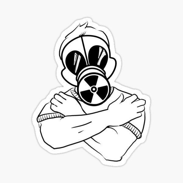 Gas Mask Guy Hug Sticker