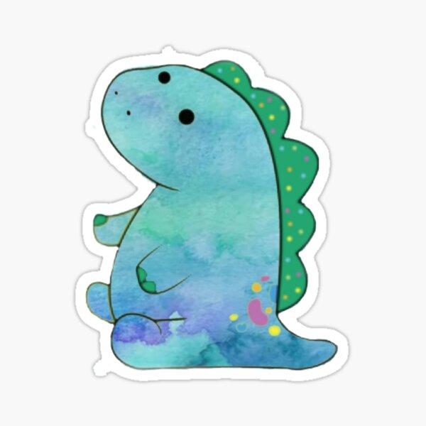 pickle the dinosaur watercolor  Sticker