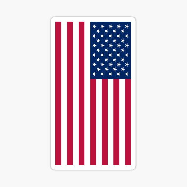 USA - American Flag Sticker - Laptop Sticker Sticker