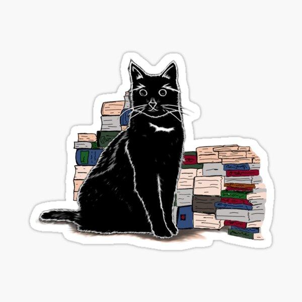 schwarze Katze (green) Sticker