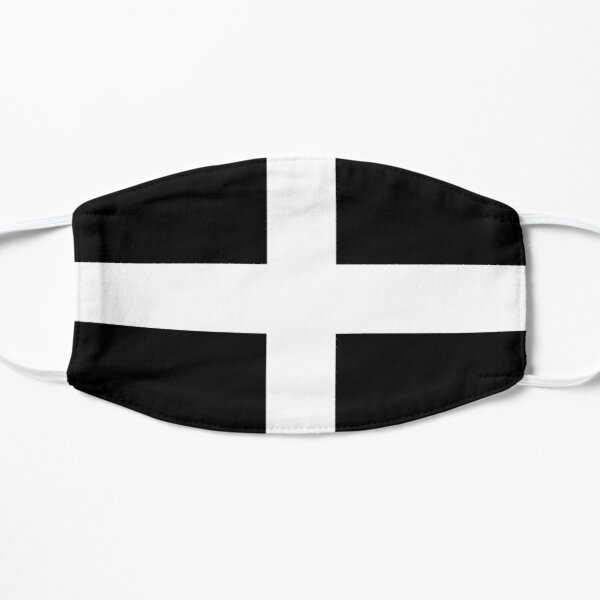 Cornish Flag Gifts, Stickers and Products Flat Mask