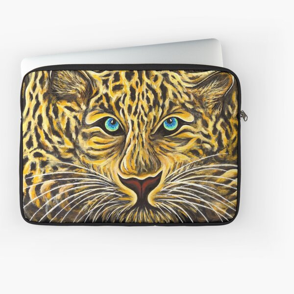 Leopard  - Shee Endangered Retro Animals Laptop Sleeve