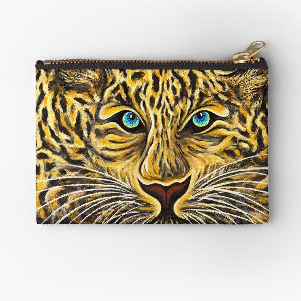 Leopard  - Shee Endangered Retro Animals Zipper Pouch