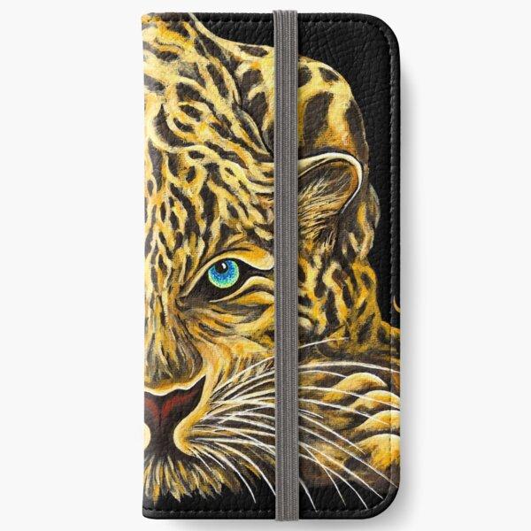 Leopard  - Shee Endangered Retro Animals iPhone Wallet