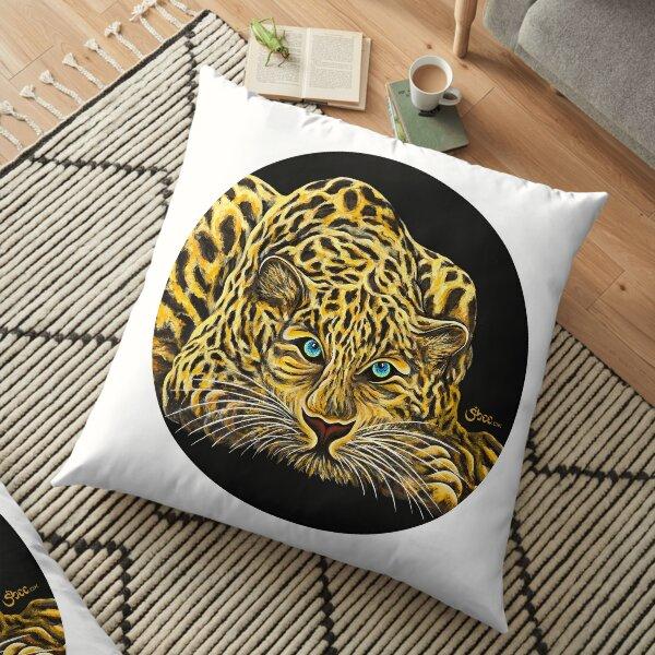 Leopard  - Shee Endangered Retro Animals Floor Pillow