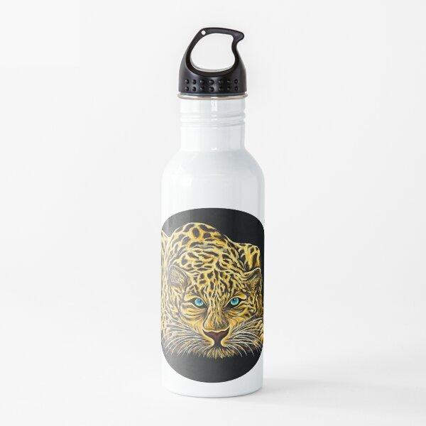 Leopard  - Shee Endangered Retro Animals Water Bottle
