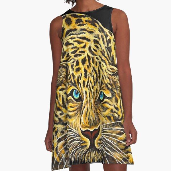 Leopard  - Shee Endangered Retro Animals A-Line Dress