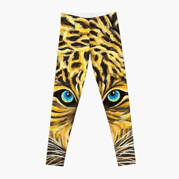 Leopard  - Shee Endangered Retro Animals Leggings
