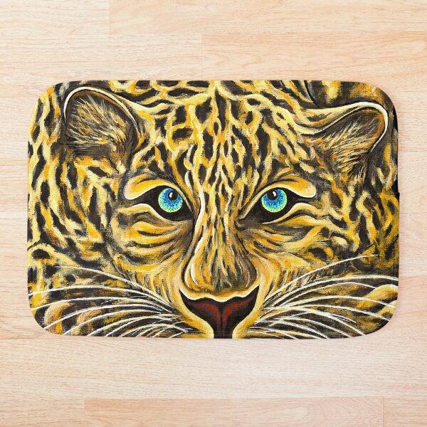 Leopard  - Shee Endangered Retro Animals Bath Mat