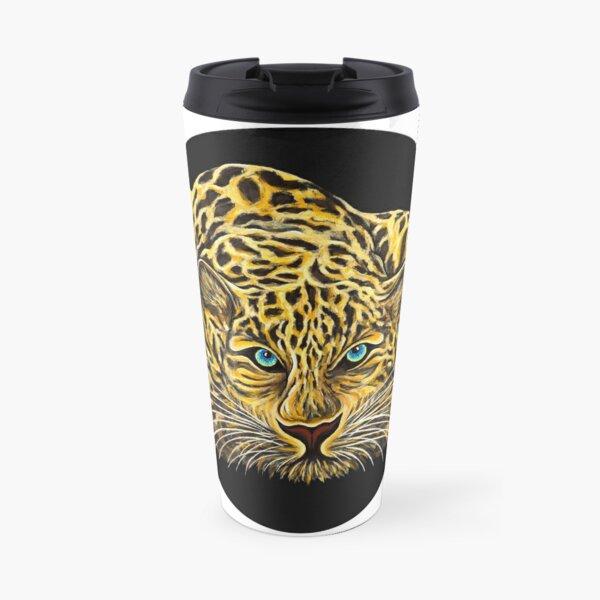 Leopard  - Shee Endangered Retro Animals Travel Mug