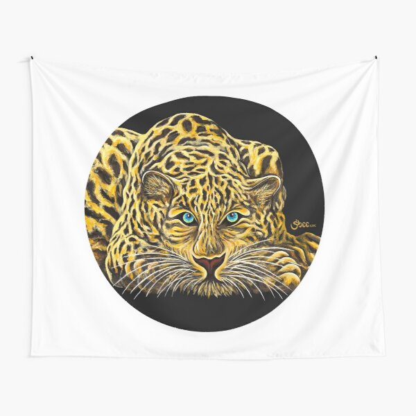 Leopard  - Shee Endangered Retro Animals Tapestry